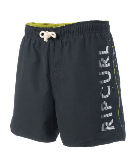 "RIP CURL MENS SHORTS.VOLLEY COLORFUL 16"" LINED BLACK SWIMMING TRUNKS 7S OFJ4 90"